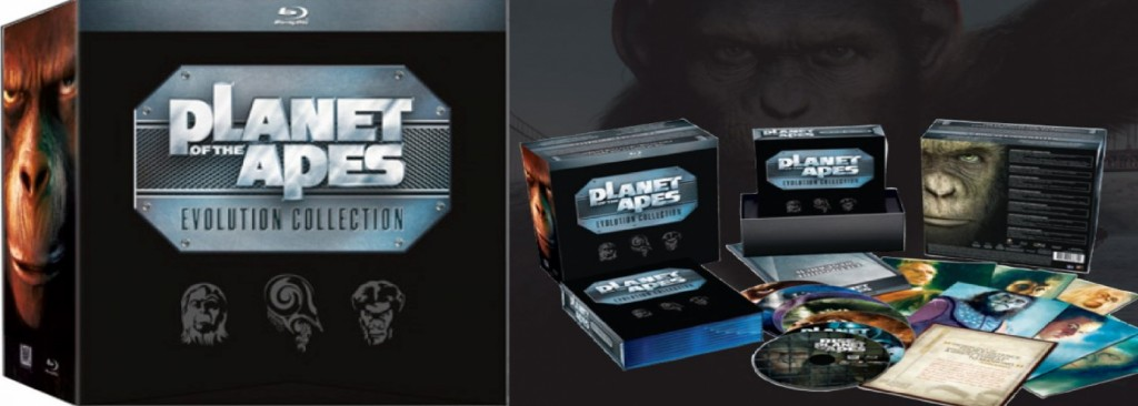 Planet of the Apes Evolution Collection på Blu-ray