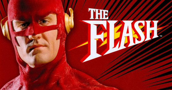 John Wesley Shipp som The Flash i CBS-serien fra 1990.