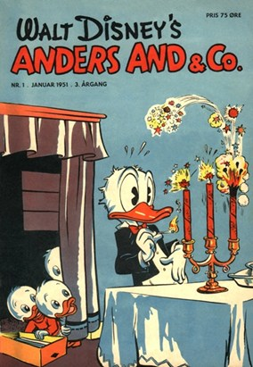 Anders And & Co. nr.  1 - 1951 (lille)