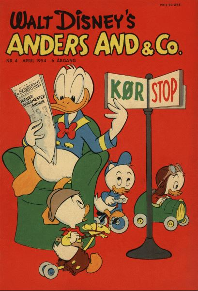Anders And & Co. nr.  4 - 1954 (lille)