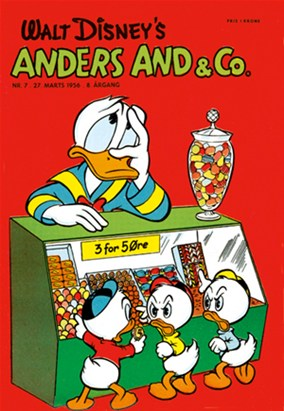 Anders And & Co. nr.  7 - 1956 (lille)