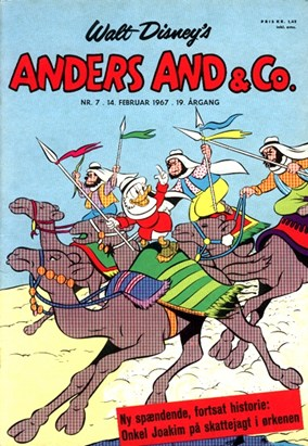 Anders And & Co. nr.  7 - 1967 (lille)