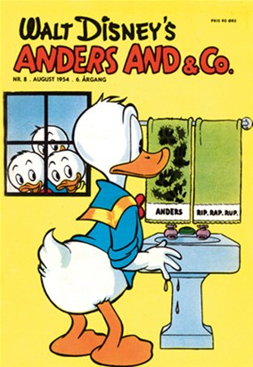 Anders And & Co. nr.  8 - 1954 (lille)