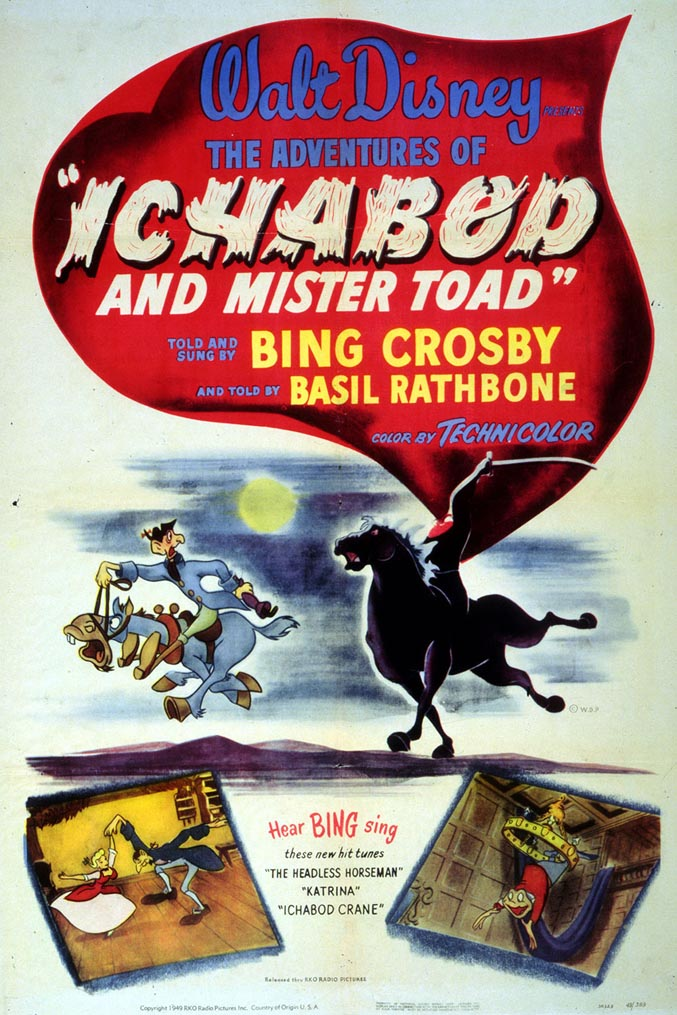Walt Disney poster-plakat til klassiker-classic - The Adventures of  Ichabod and mr. Toad (11)