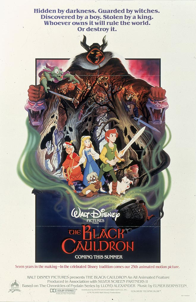 Walt Disney poster-plakat til klassiker-classic -  The Black Cauldron (25)