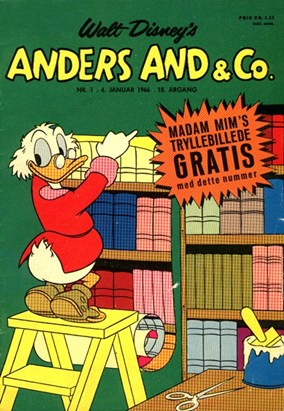 Anders And & Co. nr.  1 - 1966 (lille)