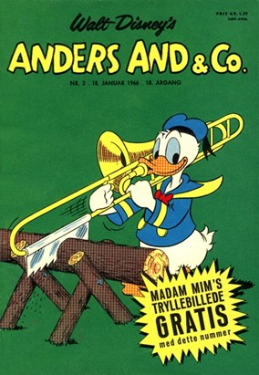 Anders And & Co. nr.  3 - 1966 (lille)