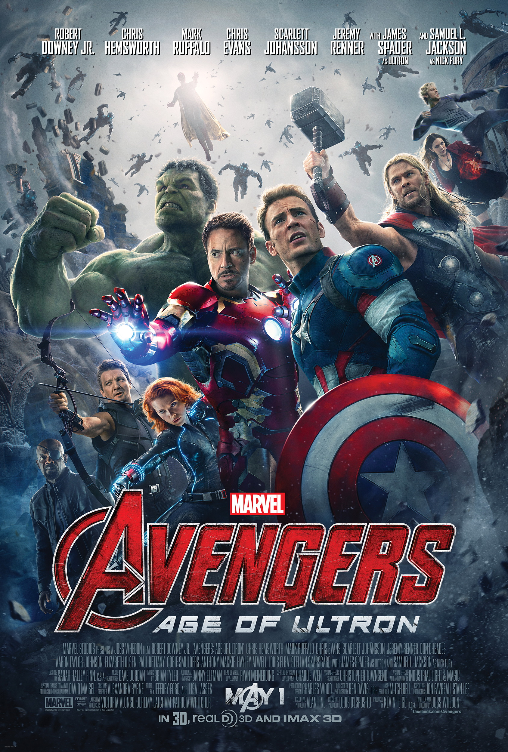 Avengers - Age of Ultron - Plakat
