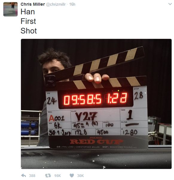 Chric Miller tweet - Star Wars - Han Solo movie - Fiktion & Kultur