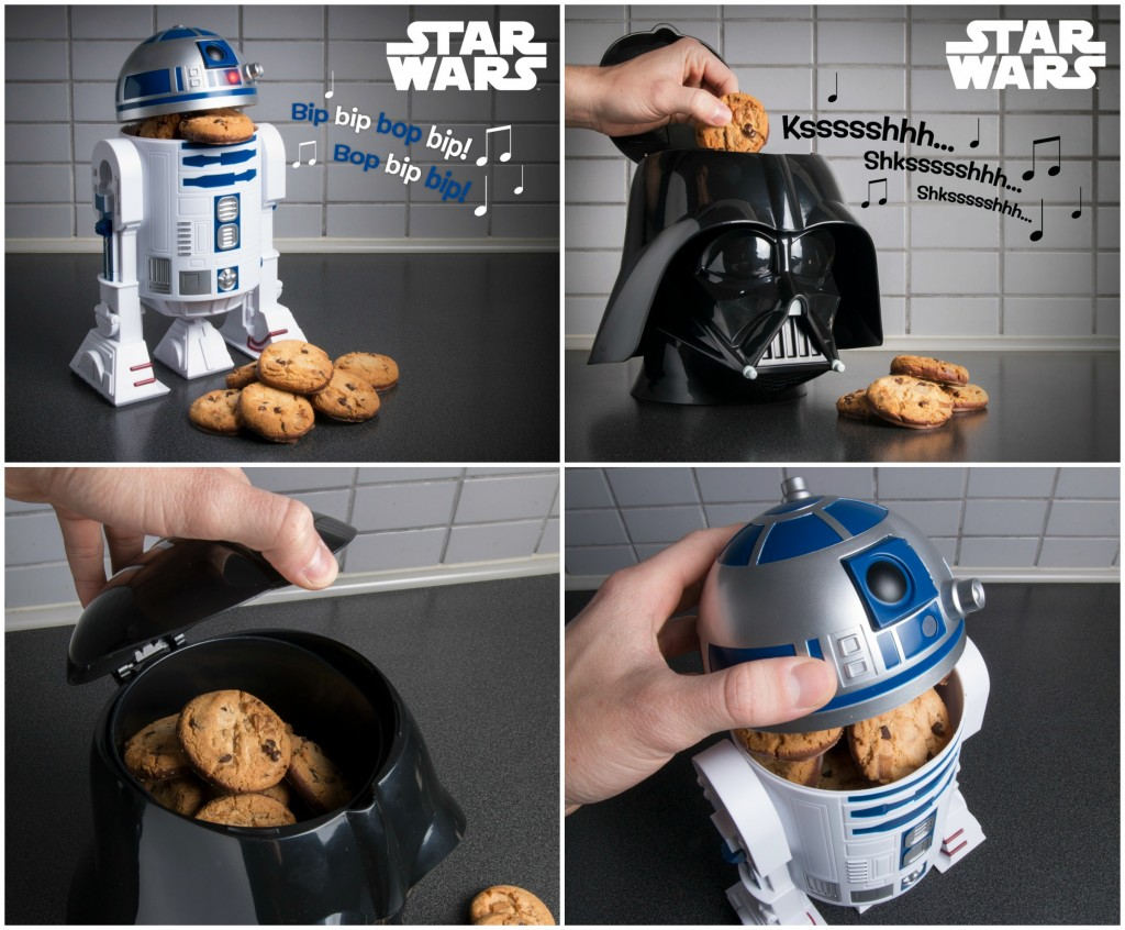 Star Wars Cookie Kagedåser - Coolstuff - R2-D2 - Darth Vader - Fiktion & Kultur (19)